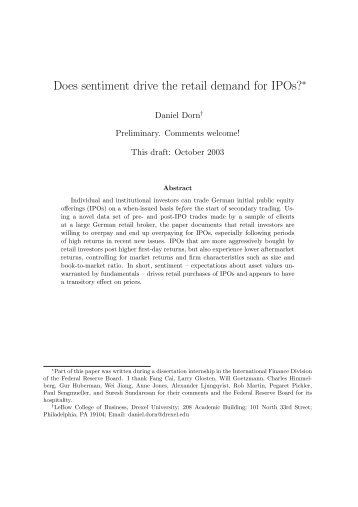 a review of ipo activity pricing A review of ipo activity, pricing, and allocations jay r ritter and ivo welch abstract we review the theory and evidence on ipo activity: why firms go public, why they.