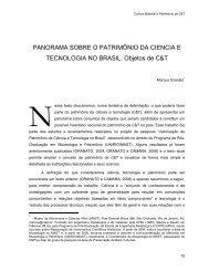 PANORAMA SOBRE O PATRIMÔNIO DA CIENCIA E TECNOLOGIA ...