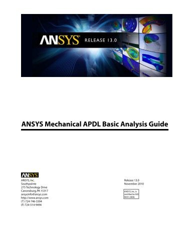 Ansys mechanical Tutorial guide