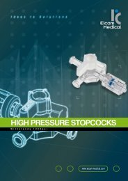 HIGH PRESSURE STOPCOCKS - Elcam Medical