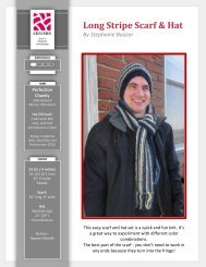 Long Stripe Scarf & Hat - Kraemer Yarns