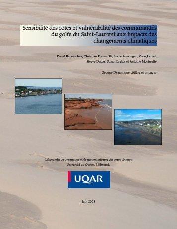 Sensibilité des côtes et vulnérabilité des communautés ... - Ouranos
