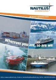 Membership application form - Nautilus International
