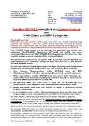 NiMH Praxis-Hinweise - Accu-Select