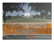 South Lake Trail - Phase III Design