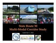 State Route 50 Multi-Modal Corridor Study Presentation