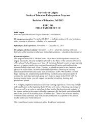 Field Experience III outline (PDF) - Faculty of Education - University ...