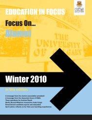 Winter 2010 - Faculty of Education - University of Calgary