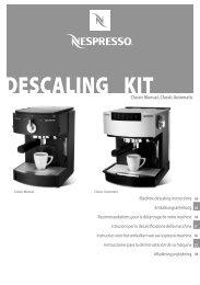 DESCALING KITClassic Manual, Classic Automatic - Nespresso