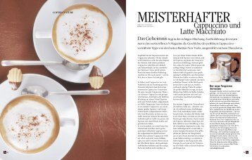 Cappuccino und Latte Macchiato - Nespresso