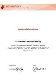 PDF-Datei Sekundäre Eisenüberladung - Kinderblutkrankheiten