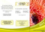 Flyer downloaden - Onkologische Schwerpunktpraxis Leer - Emden
