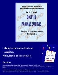 No. 5 / 2007 - Boletín Páginas Sueltas
