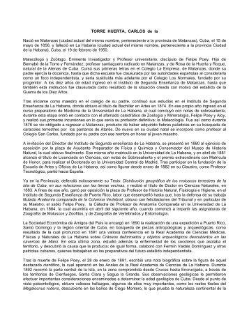 TORRE HUERTA, CARLOS de la - Resultados de la Ciencia en Cuba