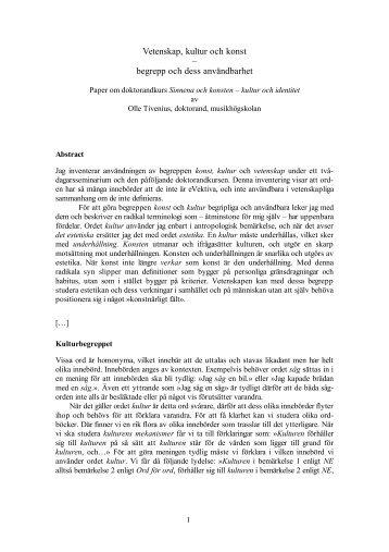 Vetenskapen, sinnena och konsten, utdrag - sensibus.se