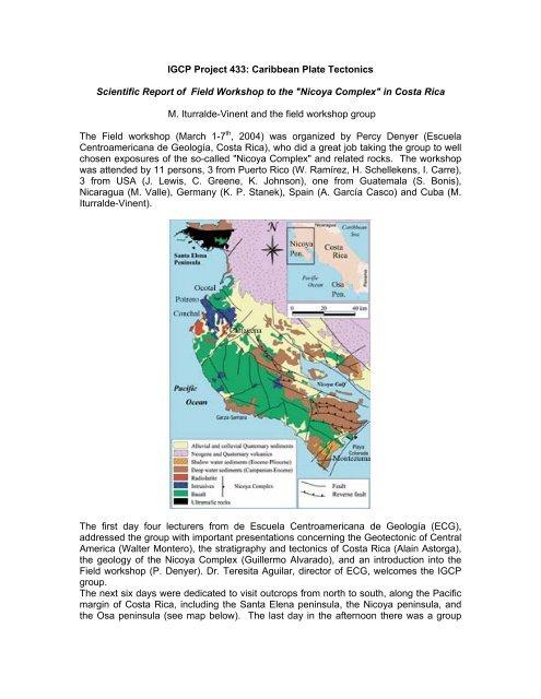 Igcp Project 433 Caribbean Plate Tectonics Red Cubana De