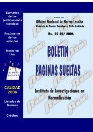 No. 07-08/ 2006 - Boletín Páginas Sueltas