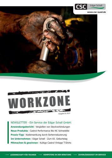 Edgar Schall GmbH - WORKZONE l Newsletter 01-2014