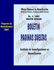 Programa de Normalización 2007 - Boletín Páginas Sueltas