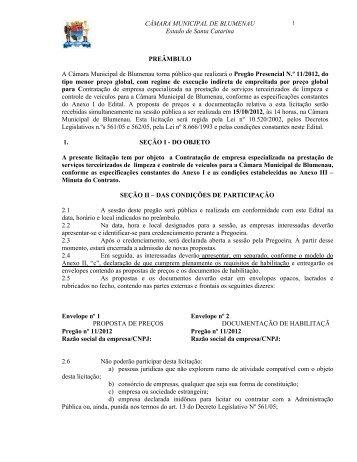 Pregão Presencial 112012 Contratação de empresa especializada ...