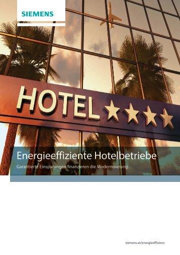 Energieeffiziente Hotelbetriebe