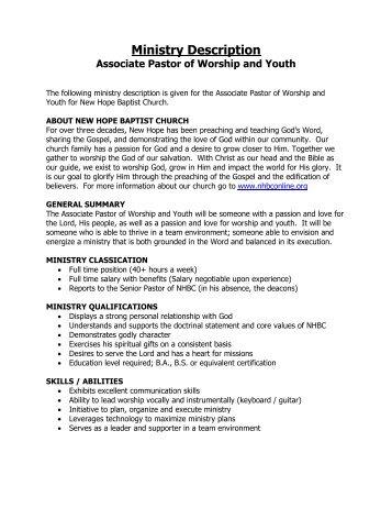 job description worship arts ministry assistant college park church
