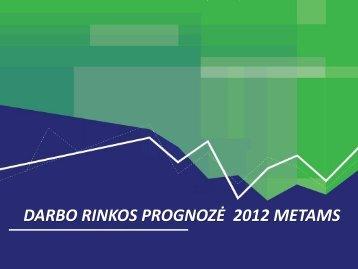 DARBO RINKOS PROGNOZĖ 2012 METAMS - Lietuvos darbo birža