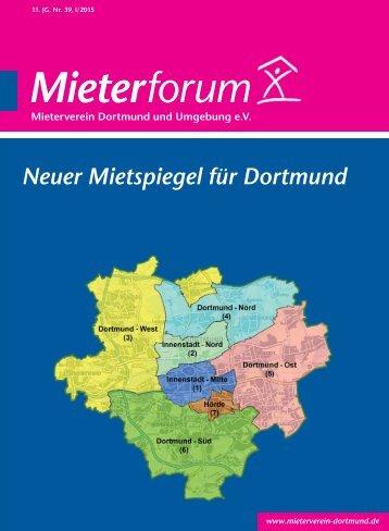 Mieterforum Dortmund - Ausgabe I/2015 (Nr. 39)