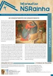 Informativo 605.pdf - PARóQUIA NOSSA SENHORA RAINHA