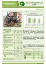 DARBO RINKOS APŽVALGA 2013/04 - Lietuvos darbo birža