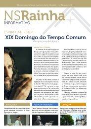 informativo 634 site.pdf - PARóQUIA NOSSA SENHORA RAINHA