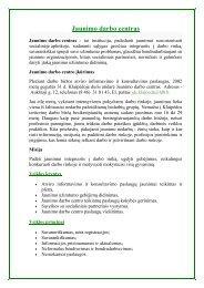 Klaipėdos jaunimo darbo centro paslaugos - Lietuvos darbo birža