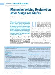 Managing Voiding Dysfunction After Sling Procedures