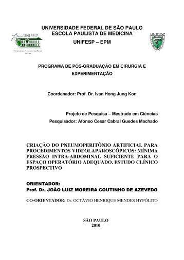 universidade federal de são paulo escola paulista de medicina ...