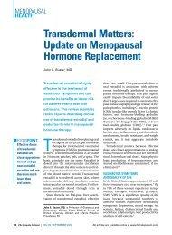 Transdermal Matters: Update on Menopausal Hormone Replacement
