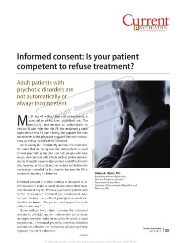 Informed consent: Is your patient competent to ... - Ob.Gyn. News