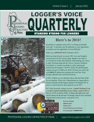 to Read the January 2011 Logger's Voice Newsletter - Professional ...