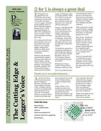 Logger's Voice Cutting Edge April 2010 PDF - Professional Logging ...