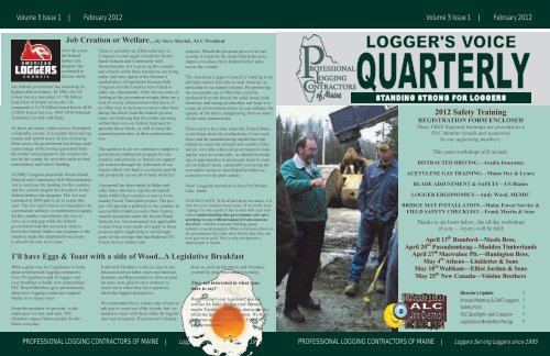 to read the February 2012 PLC of Maine Newsletter - Professional ...