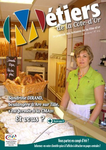 N°214 - Juin 2010 - Chambre de métiers