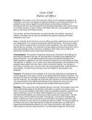 club president role, duties and responsibilities - Lions Clubs of Iowa