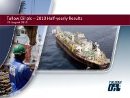 Tullow Oil plc – 2010 Half-yearly Results