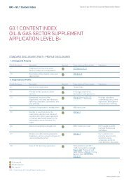 G3.1 Content Index - Oil & Gas sector supplement ... - The Group