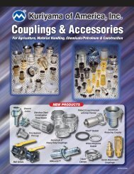 75 PSI 1.5 Kuriyama of America Inc. Kuriyama AL-ELF150 Aluminum Part E Layflat Adapter 1.5
