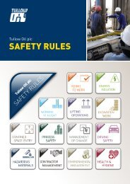 Tullow safety rules - The Group