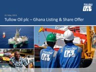 PRESENTATION SLIDES: Tullow Oil Plc - The Group