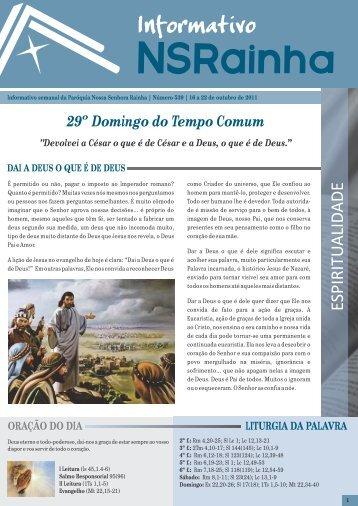 29º Domingo do Tempo Comum - PARóQUIA NOSSA SENHORA ...