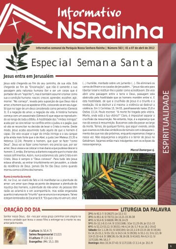 Informativo 563.pdf - PARóQUIA NOSSA SENHORA RAINHA