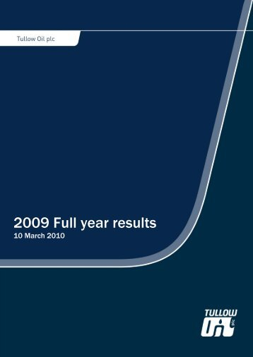 The reported financial results for 2009 are in - The Group