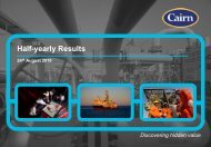 Cairn Energy PLC Half Year Results Presentation 24 ... - The Group
